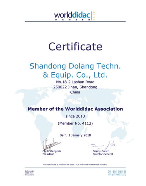 عضو جمعية WORLDDIDAC